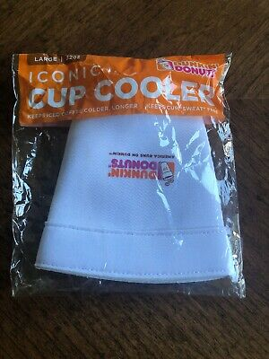 Dunkin Donuts Large Cup Cooler White 2018