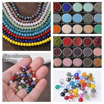 100pcs 6x4mm Rondelle Faceted Glass Crystal Loose Spacer Beads lot DIY Jewelry