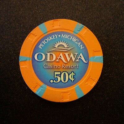Odawa Casino Resort Petoskey Mi 50 Cent .50 Casino Chip Fractional ****Rare****