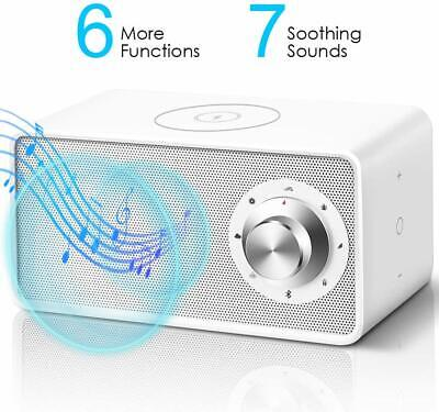 White Noise Machine - Bluetooth Speaker with Wireless Charger.