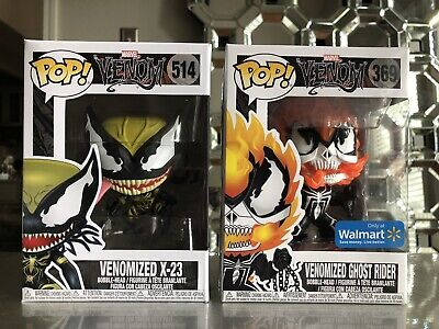 Marvel Venom Funko Pop lot Walmart Exclusive Venomized Ghost Rider X-23 369 514