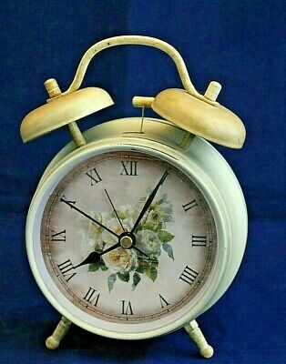 Pale Green French Country Round Table Bell Alarm Clock