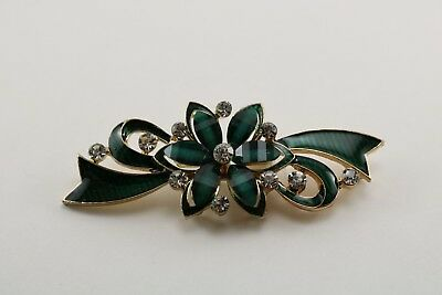 Green rhinestone flower design frog closure
