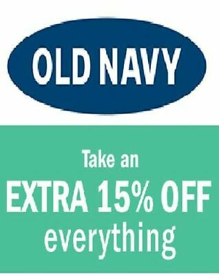 Old Navy 15 % Coupon - COMBINABLE with Online DISCOUNT - IMMEDIATE DELIVERY!