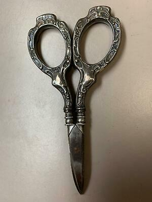 Vintage Germany Silver Curved End Embroidery Scissors