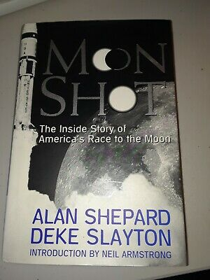 Moon Shot book signed by Alan Shepard 1994 1st Edition Collectible celebrate 50!