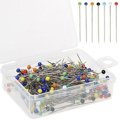 Glass Ball Head Pins Sewing Quilting Dress Jewelry Flower Decor 38mm for Home