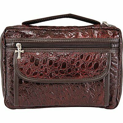 Embassy Alligator Embossed Genuine Leather Bible Cover, Protects and Shelters...