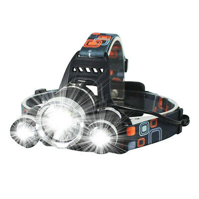 12000LM 3 x XML CREE T6 LED Rechargeable HeadTorch Headlamp Light Lamp