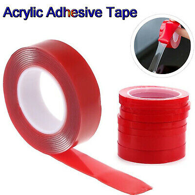 3/5/10M Double-sided Clear Acrylic Heat Resistant Foam Adhesive Transparent Tape