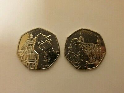 Set of 2 Brand New 2019 Paddington Tower of London St Pauls Cathedral 50p Coins