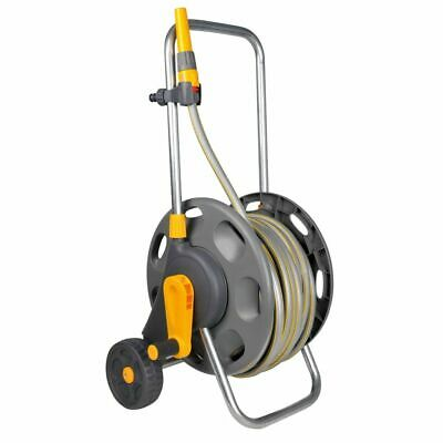 Hozelock Assembled Hose Reel Holder Cart Trolley Watering Garden Pipe 2435R0000~