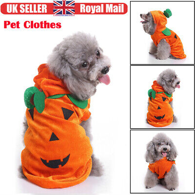 UK Pet Halloween Clothes Funny Pet Costume Draping Pumpkin Pattern For Pet Dog