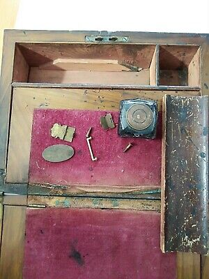 Vintage Approx 1914 Restoration Project. Writing Slope With Ink Bottle