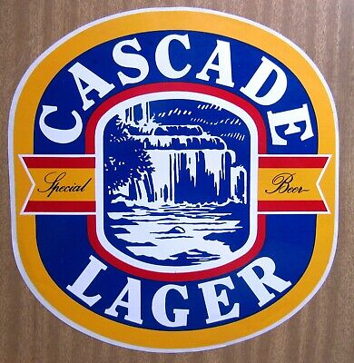 Large Tasmanian Beer Sticker:  CASCADE  SPECIAL  LAGER  .....  (270mm x 270mm)