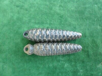 Pair Of Vintage Cuckoo Clock Weights one marked 275 / one 320 both  5inches long