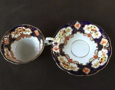 Early Royal Albert England Heirloom Crown Bone China Cup & Saucer + Ornate Gold