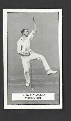 Gallaher - Famous Cricketers - #89 G G Macaulay, Yorkshire