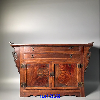 """24.6"""" Treasures China old antique Palace Rosewood Small Cabinet table"""