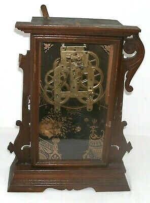 The Remains Of An Antique Seth Thomas American Alarm-Mantle-Gingerbread Clock