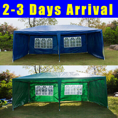 3x6m Large Garden Gazebo Outdoor Party Tent Marquee Canopy Easy Install 4 Sides