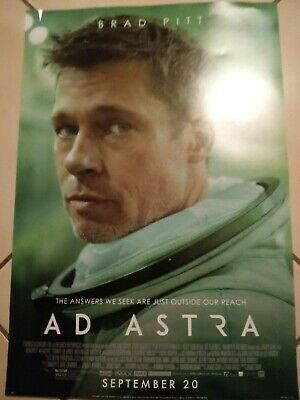 AD ASTRA Original Promo Movie Poster MINT Brad Pitt Tommy Lee Jones  lot of 2