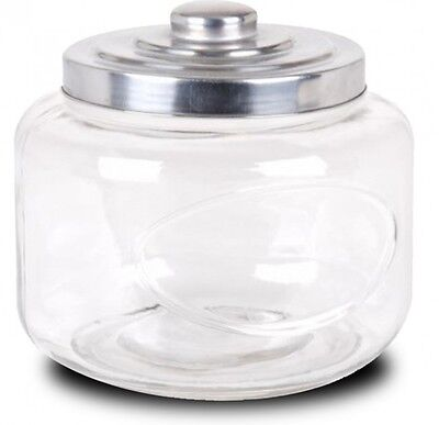Heritage Hill Very Large Clear Glass Storage Jar With Airtight Lid