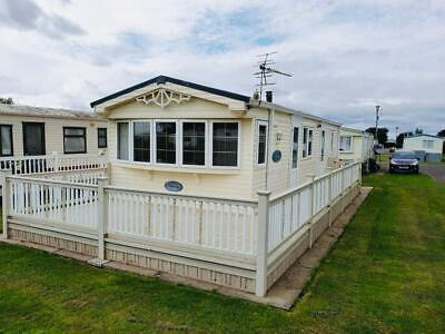 *Caravan Sited In Skegness With Decking On 10 Month Site Low Fees*