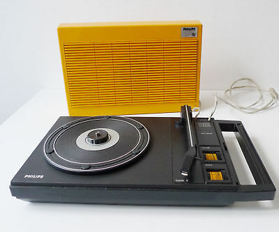 Tourne Disque Vintage Portable Philips Pick Up 1970