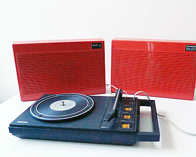 Tourne Disque Vintage Portable Philips Pick Up 1970 Stereo