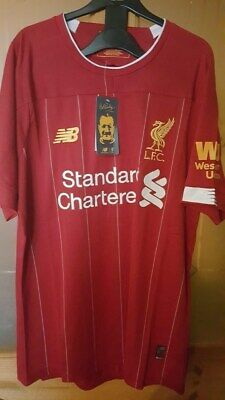 New Balance Liverpool Home shirt 2019 20 size L Large