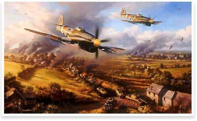 Typhoons at Falaise-Nicolas Trudgian, 5 Battle of Normandy Typhoon Pilot Signed