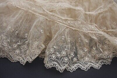 Antique 19th Century Frilly Lace edging 1.8 Metres