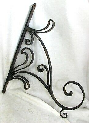 ANTIQUE WROUGHT IRON BRACKET / HANGER *LARGE HAND MADE* c.1880