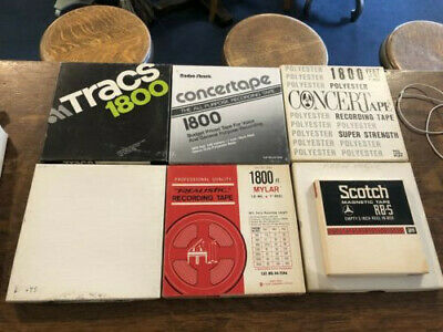 7 Reel to Reel tapes 1 new 6 used