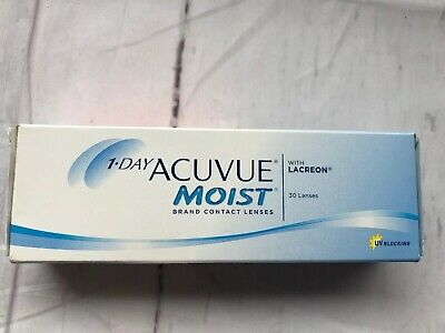 1 day Acuvue Moist WITH Lacreon UV Blocking D-2.25,BC 8.5 2024-03-01 New