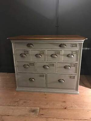 Stunning Vintage Painted Chest of Drawers Annie Sloan 'French Linen'