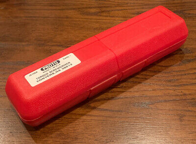 """Proto J6106A 1/4"""" Drive Torque Screwdriver 4% 7-36 in-lbs New Open With Case"""