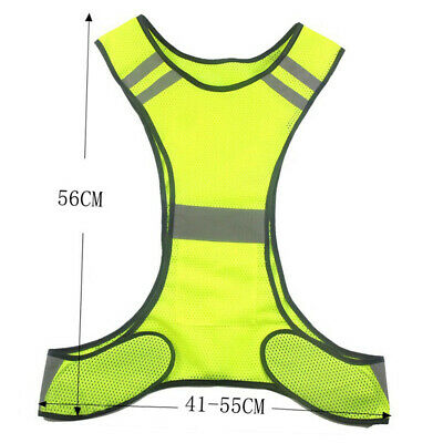 Safety Vest Reflective High Visibility Security Gear Stripes Practical