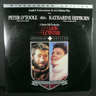 The Lion in Winter - Peter O'Toole, Katharine Hepburn 1968 - LaserDisc