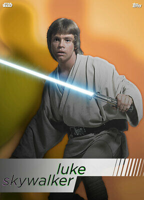 Topps Star Wars Card Trader Technocolor HEROES Luke Skywalker [DIGITAL CARD]