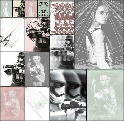 Topps Star Wars Card Trader GEOMETRIC REVOLUTIONS [15 CARD SET] Rey/X-Wing+++