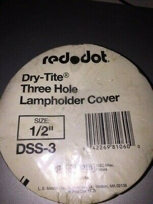 """Red Dot Dry-Tite Three Hole Lampholder Cover 1/2"""" DSS-3"""