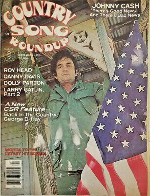 Country Song Roundup September 1976 - Johnny Cash - Dolly Parton - VG - No Label