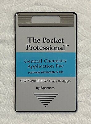General Chemistry Card For Hp 48Gx Calculator