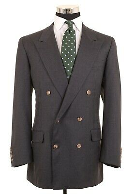 BESPOKE Savile Row Gieves & Hawkes Wool Double Breasted Sport Coat Jacket 43 L