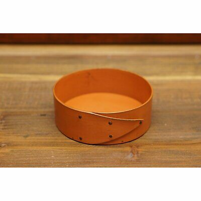 "LeHay Shaker 4"" Pincushion Base - Orange Milk Paint Finish"