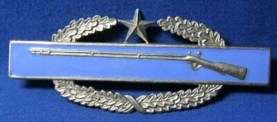 Korean War Theater Made Army CIB Combat Infantry Badge 2ND AWARD