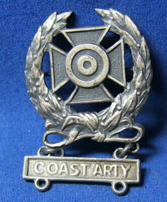 WWII Sterling Army Coast Artillery Expert Badge