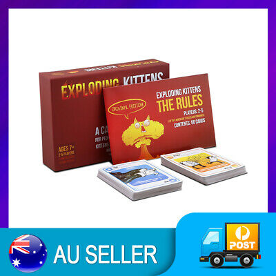 EXPLODING KITTENS Original Edition Card Party Family Game Goats NEW GIFT NEW AU